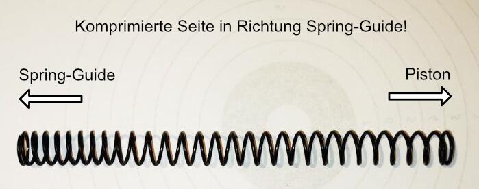Feder Richtung Spring Guide Piston Airsoft Softair